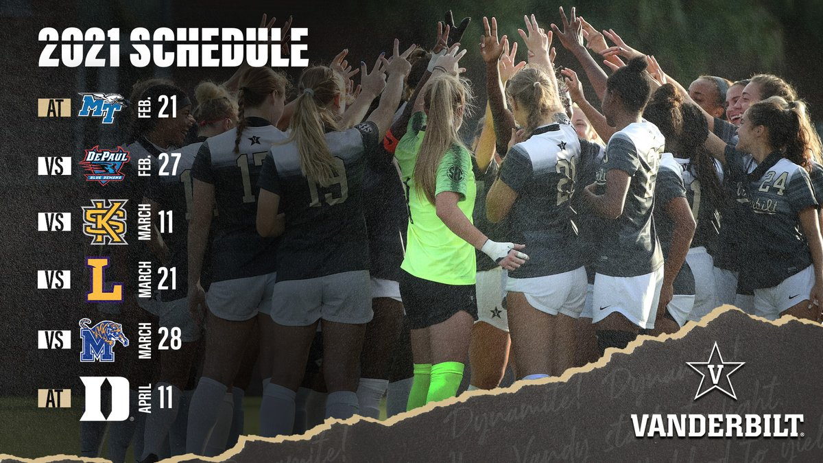 The @SEC champs are back. 🗓️  Gearing up for the NCAA Tournament with two exhibitions and four regular-season matches over the next three months.   #AnchorDown
