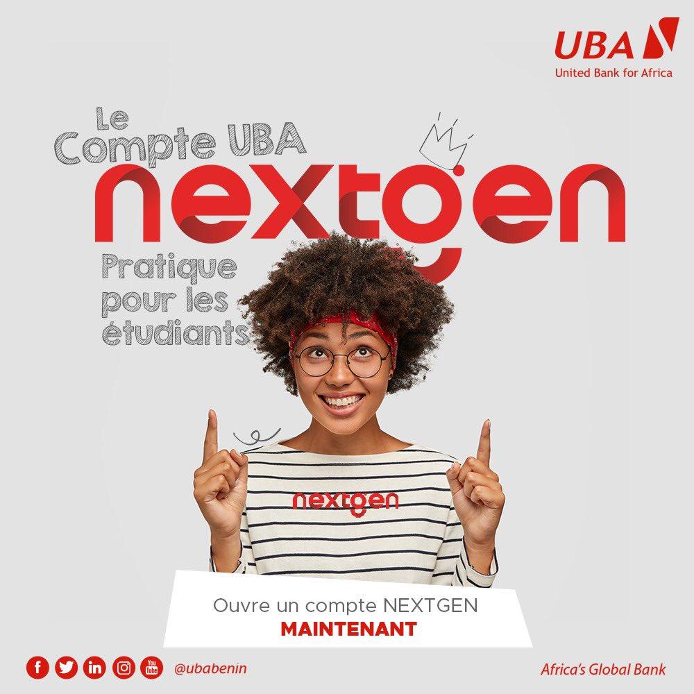 Vous êtes Etudiants ?  UBA NEXTGEN est le compte qu'il vous faut pour préparer sereinement votre avenir ! Rendez-vous dans l'une de nos agences.  #UbaNextGen #UbaBénin #AfricasGlobalBank #wasexo #team229 #Bénin #Banque