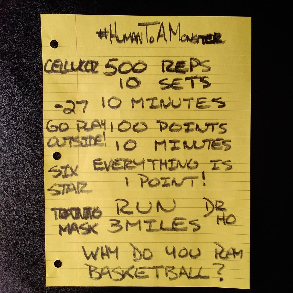 #HumanToAMonster  @SixStarPro @cellucorC4 @TrainingMask @Spotify  @YouTube   #TuesdayMotivations #Basketball
