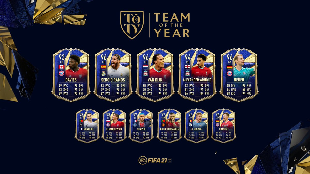Guardians at the back. 🧱  Introducing the ratings for your Team of the Year Back Line.  #TOTY #FIFA21