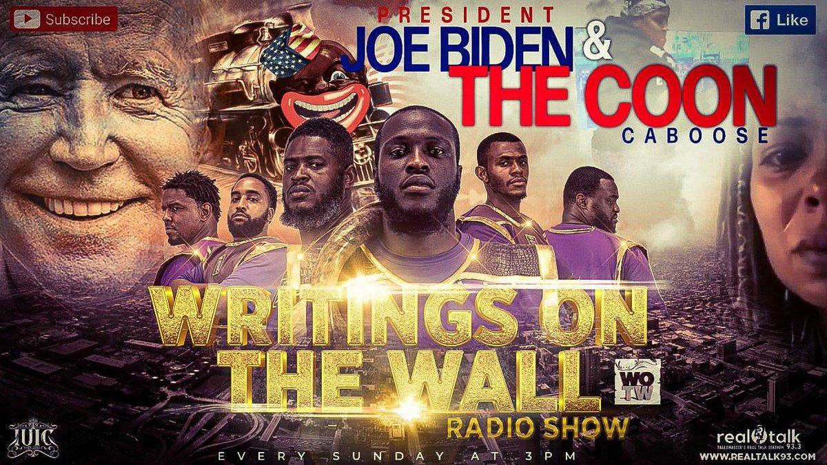 "The Writings On The Wall Radio Show   ""President Joe Biden & The Coon Caboose""   Make Sure To Tune In!!   #IsraelUnitedinChrist #Blacks #Hispanics #Latinos #NativeAmericans #Truth #Endtimenews #Controversy #news #biblestudy #President #Joebiden"