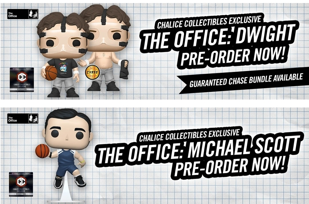 Chalice Collectibles The Office Exclusives available now  . #Funko #Pop #FunkoPop #toys #popvinyls #funko #pops #popvinyl #funkopop #originalfunko #funkopops #funkogram #funkoaddict #funkofamily #funkofanatic #funkofunatic #funkolife #serlentpops #serlent