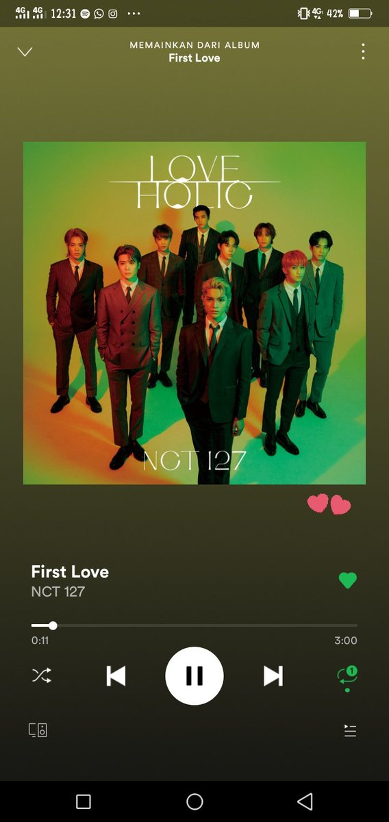 !! STREAMING CHALLENGE !!  1 MILLION STREAMING ON SPOTIFY IN 24 HOURS FOR 127DAYS   #NCT127_FirstLove #NCT127   @NCTsmtown_127 Together? We can make it!  Fighting!   Don't break the chain @ilichilz @yes2dayTY @02MOLOXY @junghyunchan_ @fullsunfllsn @H77CODE @jwooville @tyobubu