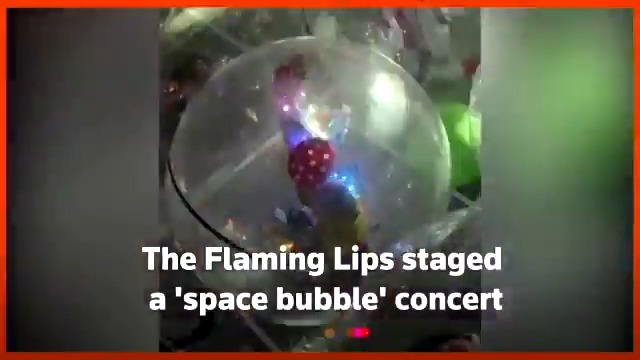 American rock band The Flaming Lips have come up with a creative way to put on live shows in the midst of the global shutdown, putting themselves and their audience in protective 'space bubbles'