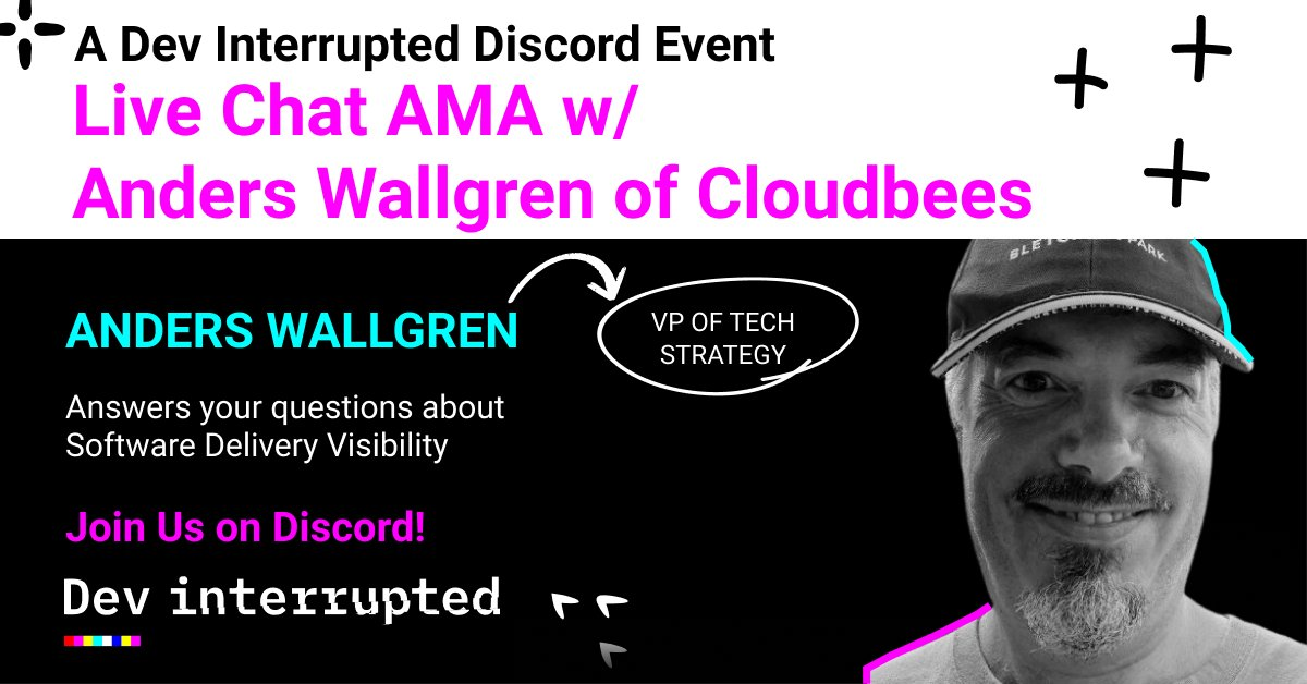 Live AMA on Friday 01/29 with Anders Wallgren of @CloudBees!    Join our Dev Leader discord for free access: https://t.co/IDx9LQAJZ3   #devops #agile #software #TechNews #devlife #SoftwareEngineering https://t.co/urb7QJjFir