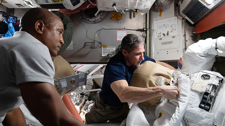 Two @NASA_Astronauts are ready for Wednesday's spacewalk to upgrade science gear on @ESA's Columbus lab module. More...
