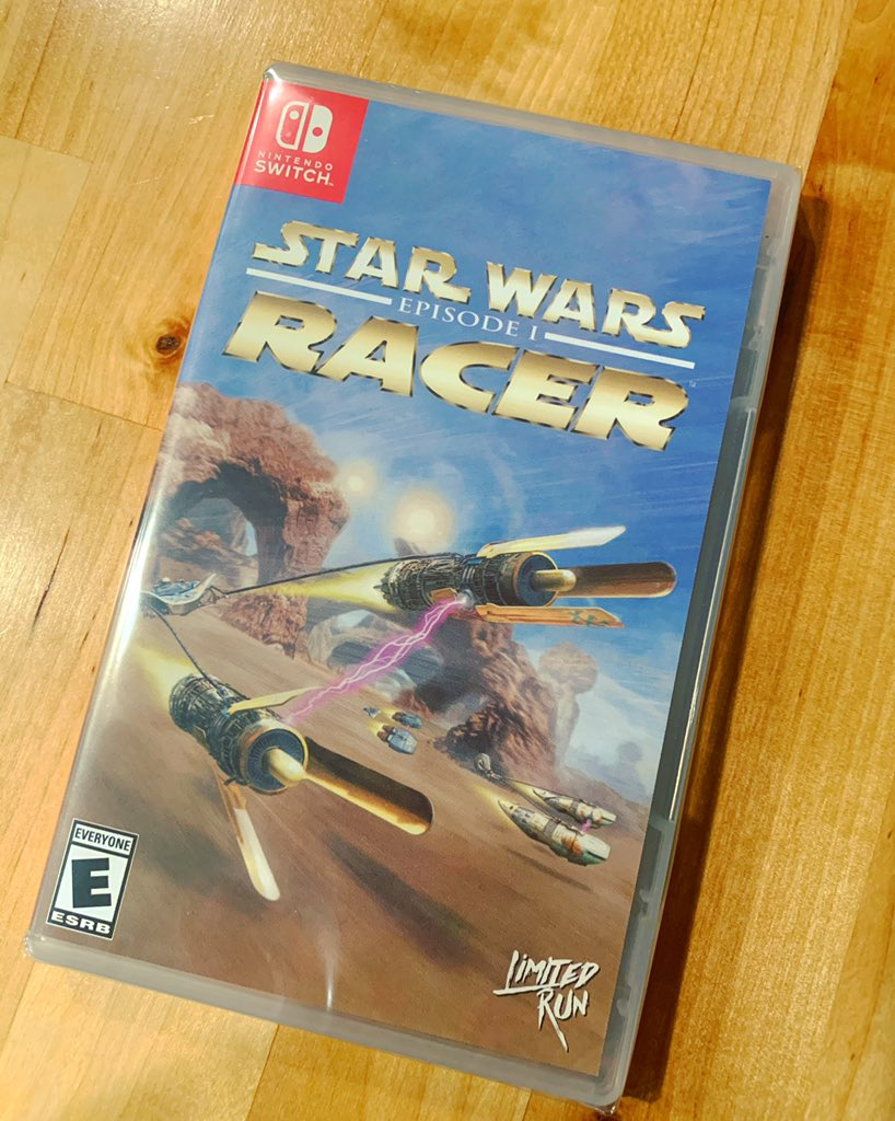 Another beautiful physical #LimitedRunGames for the collection! #StarWars #StarWarsRacer #Nintendo #NintendoSwitch #ForeverPhysical @LimitedRunGames Thanks ❤️❤️!!!