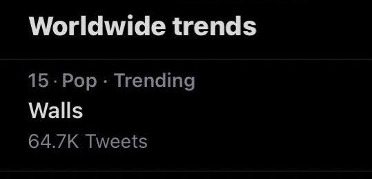 📈  Walls is trending worldwide at 15!