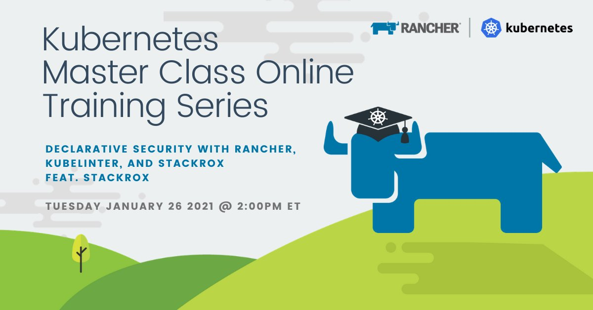 There's still ⌛to join @Rancher_Labs #Kubernetes Master Class on #OpenSource tool #KubeLinter TODAY AT 11AM PT/2PM ET! 🤗✏️🗓️➡️https://t.co/kxrFQjtq3M  #DevOps #K8s #RKE @IdealUsrname #KubernetesSecurity #YAML https://t.co/SJuV4budEa