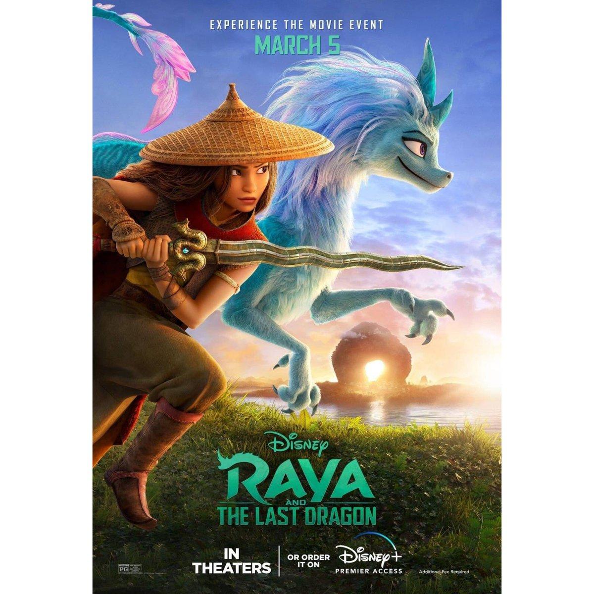 Nuevo póster de #RayaAndTheLastDragon.
