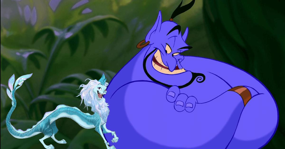Awkwafina's Disney Character Compared to Robin Williams's Genie #rayaandthelastdragon #disneyraya #disneyplus #disneymovies