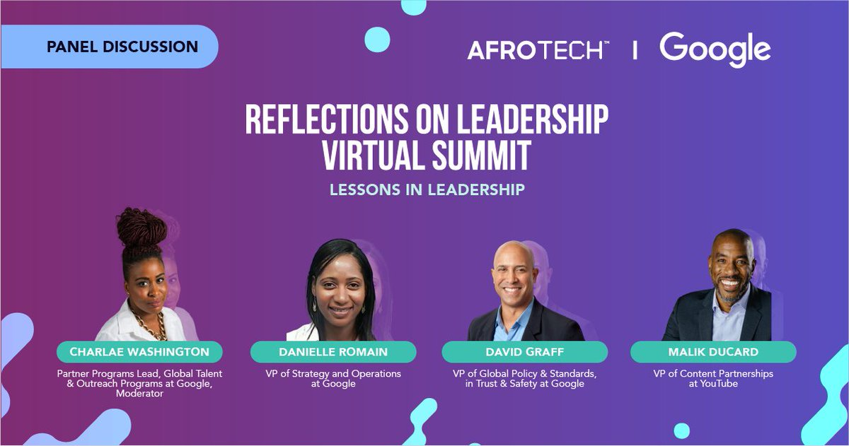 Who got next? 🙋🏾♂️ Join us for session two of the @lifeatgoogle x #AfroTech summit, a panel discussion with Black Google VPs on the lessons they have learned in leadership & how to build the new generation of Black leaders. Register today: