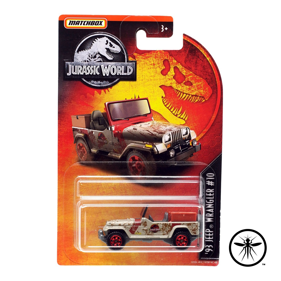 We wish Matchbox would re-release this hard to find '93 Jeep Wrangler #10 Die-Cast vehicle!       #jurassicreport #jurassicpark #jurassicworld #mattel #toys #toynews #toycollector #toyarchives #toydatabase #database #matchbox #diecast #jeep