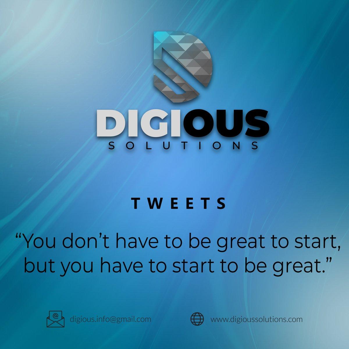 """You don't have to be great to start, but you have to start to be great."" #Entrepreneur #businessowner #startup #DigitalMarketing #socialmedia #Website #searchengineoptimization #SMM #ecommerce #ecommercetips #Kobe #Gigi #By2025 #tuesdayvibe #verizon @maideng_rts @ScrimFinder"