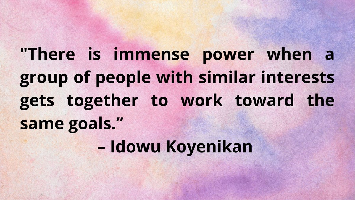How could your community work together to better meet its goals? #ThursdayThoughts