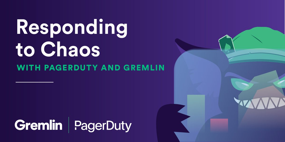 Incident response is something you hope to never need, but when you do, you want it to go smoothly and seamlessly. Learn how you can respond to chaos w/@GremlinInc and us in this hands on workshop on 1/28 at 10 am PT! https://t.co/cd7WFlfQPB #chaosengineering, #devops https://t.co/eHObD5Mr8U