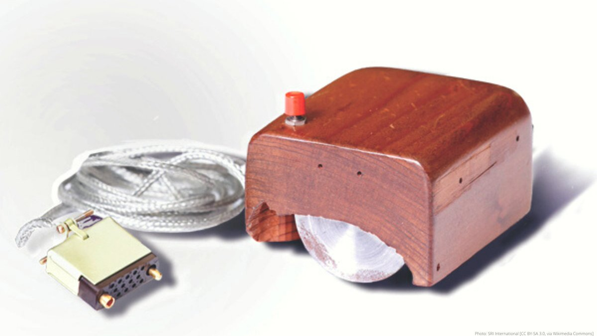 """Who invented the mouse🖱️?  In 1961, American engineer Douglas Engelbart came up with the idea of a mouse to make interactive computing more efficient.  Patented as an """"X-Y Position Indicator for a Display System"""", his team called the device a """"mouse"""" – and the name stuck."""