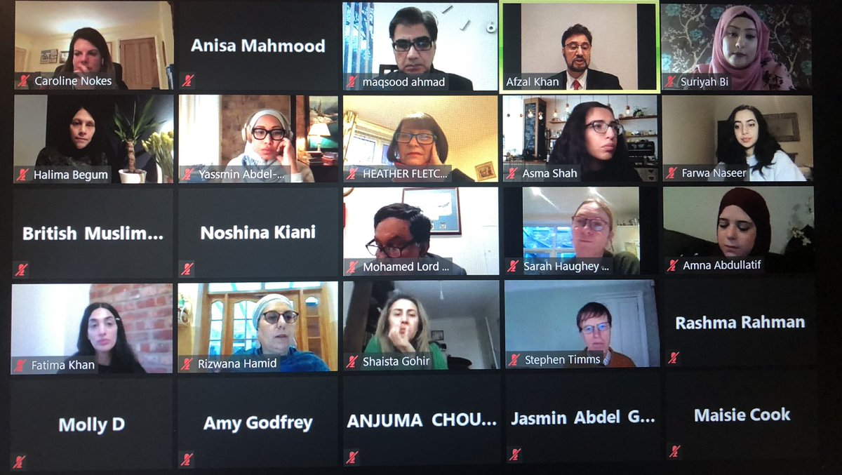 A full house! Thank you to all the wonderful speakers & attendees at today's webinar looking at Muslim Women in employment There are a lot of challenges to be overcome, but I'm hopeful that together we can usher in a new era that is more inclusive for all #EmpoweredEmployment