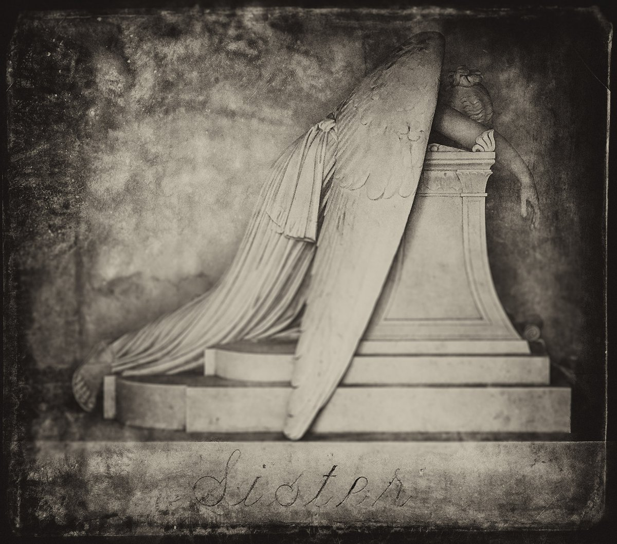 Sister #photography #blackandwhitephotography #fineartphotography #NewOrleans #cemetery #momentomori #angel #angels