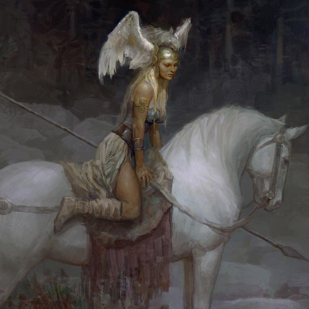 Brunhilde by Justin Sweet #fantasyart #mythology #Fantastico #Valquirias #warrior