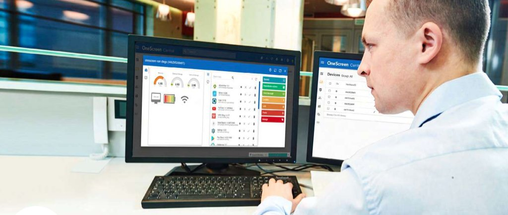 OneScreen Central controls all your OneScreen devices from a single dashboard. Monitor web activity, send out OTA updates to software, and alert everyone to critical news, weather, emergencies, upcoming events, etc.  PDF fact sheet:   #monitor #alerts