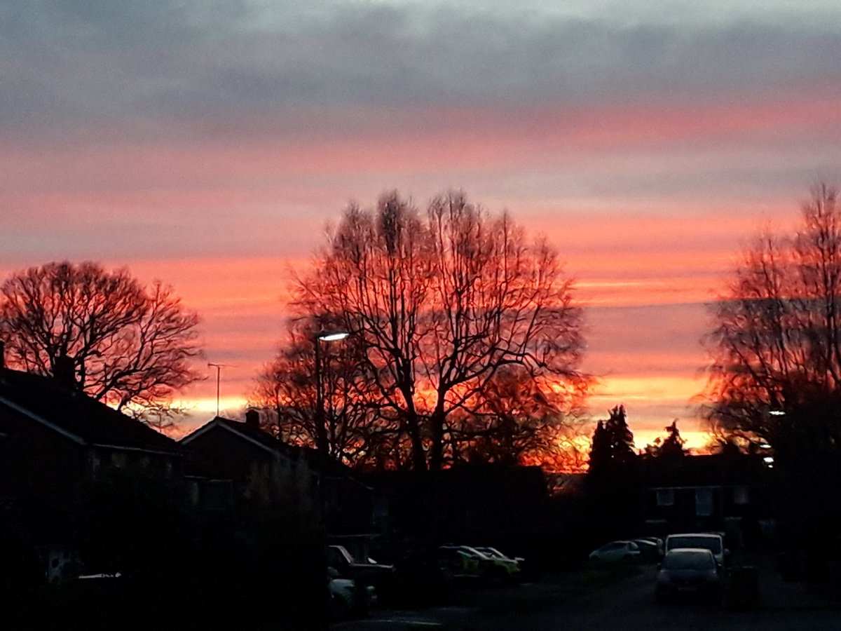 Yesterday's #sunset #partridgegreen #westsussex. Today; no chance!