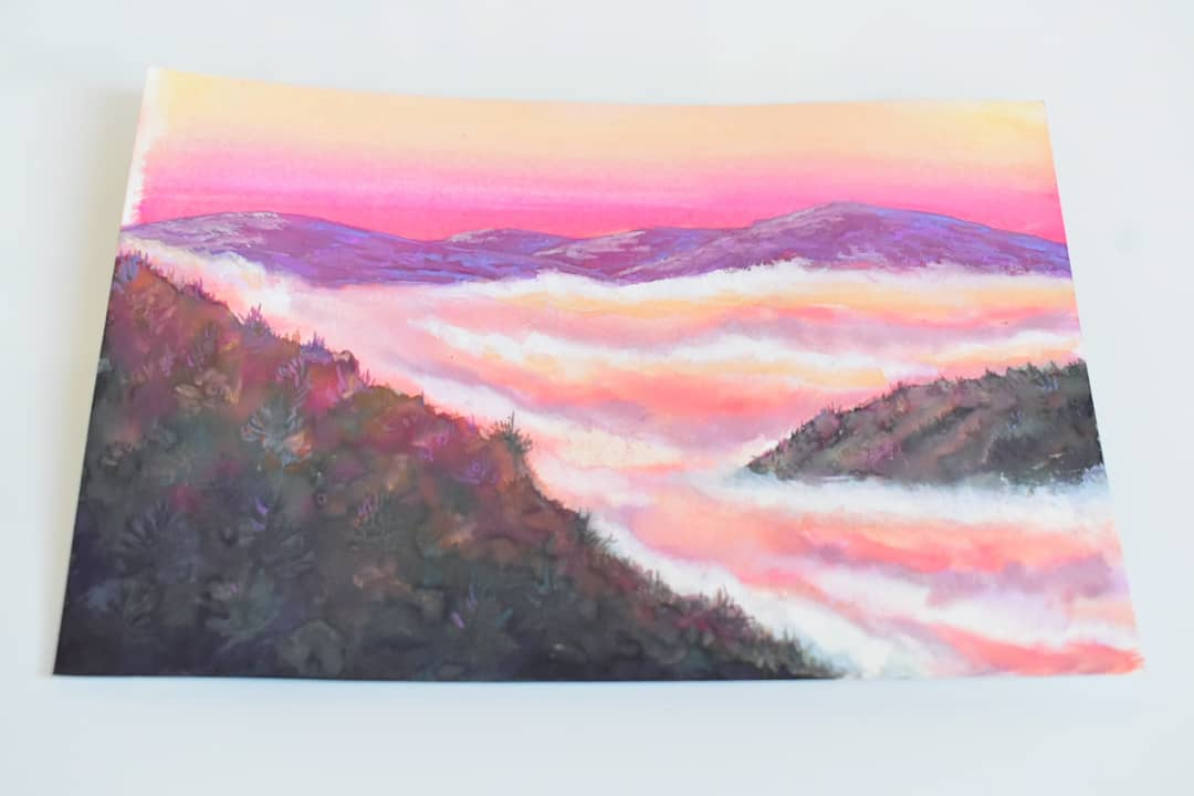 Sea of clouds  #painting #sunset #clouds