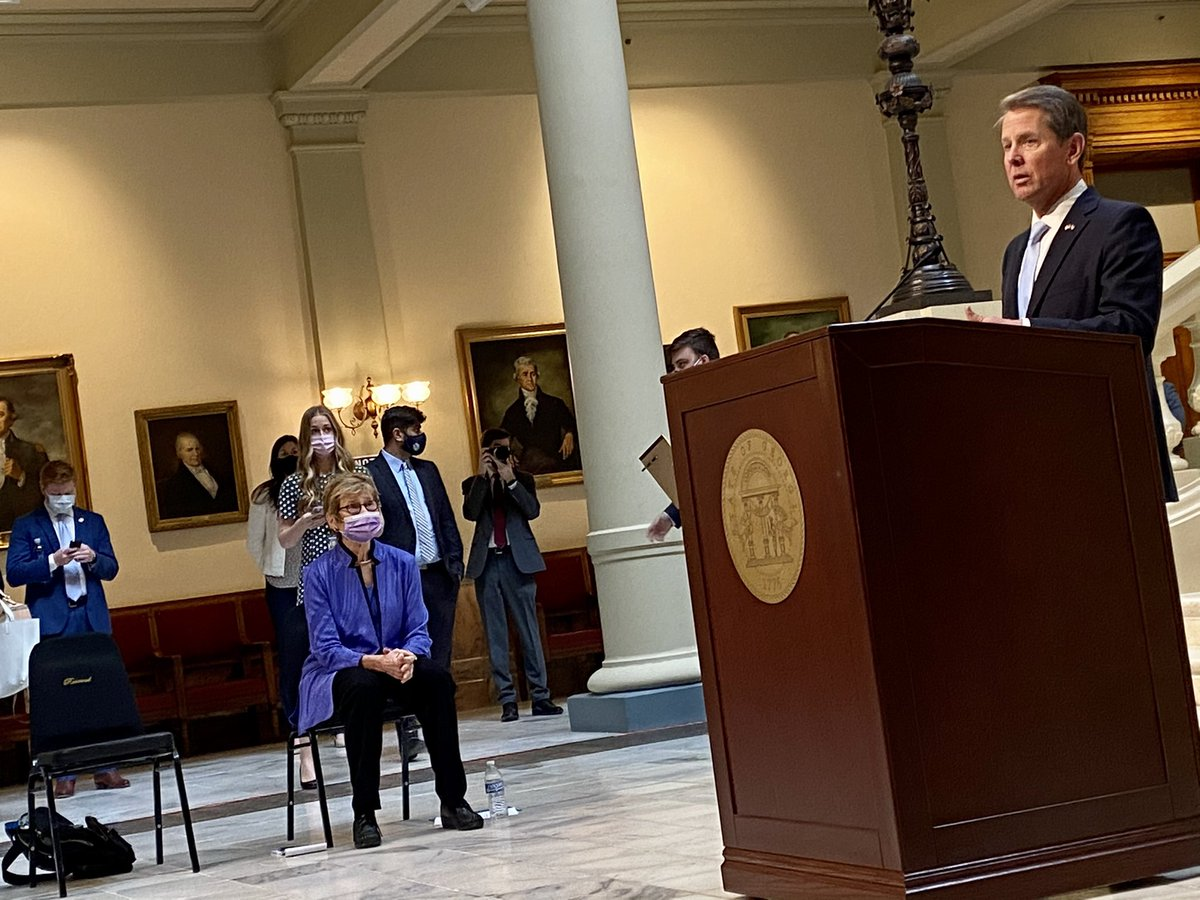 Georgia has not yet reached the halfway point in giving first doses of COVID-19 vaccines to the roughly 2 million people currently eligible more than a month after the state's distribution program began, Gov. Kemp said Tuesday. #gapol  Capitol Beat story: