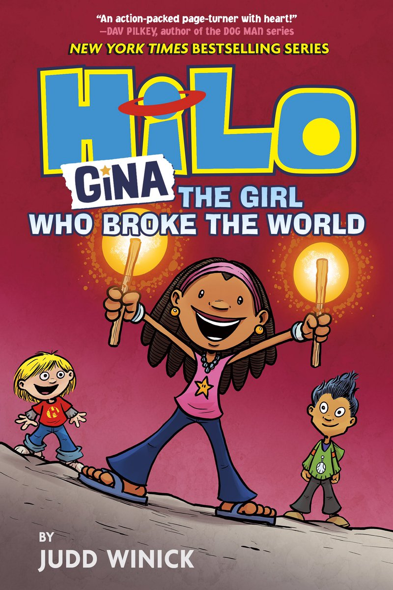 WE'RE ALMOST HERE! HILO BOOK 7: Gina, The Girl Who Broke the World Available February 2nd 2021 A new adventure begins! @RHKidsGraphic @randomhousekids Preorder BOOK 7 or the entire HILO series right here: rhcbooks.com/books/575576/h…