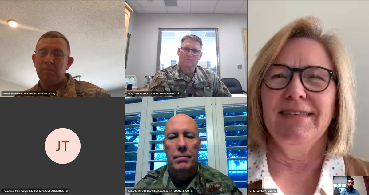 I had a great meeting with Maj. Gen. Manke, Lt. Col. Hull, Brig. Gen. Gabrielli & 1SG Thompson of the @MNNationalGuard today. Glad for the opportunity to learn about their federal priorities and discuss how we can work together. Thank you!