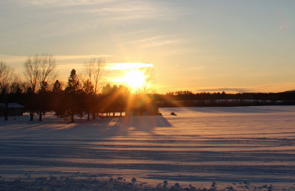 Sunset over the homestead #sunset #winter #photography #ThePhotoHour