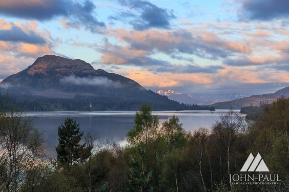 Loch Laggan with Glen Spean in background by John Paul  #Scotland #photography #sunset