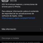 Image for the Tweet beginning: Ya esta aquí iOS 14.4