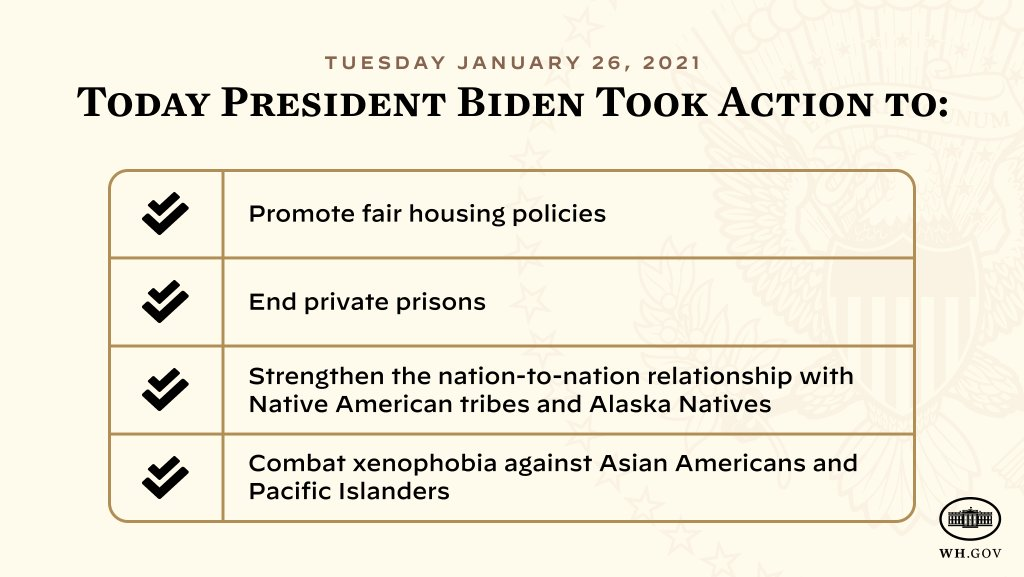 Today, President Biden signed executive actions that provide a down payment on advancing racial equity.