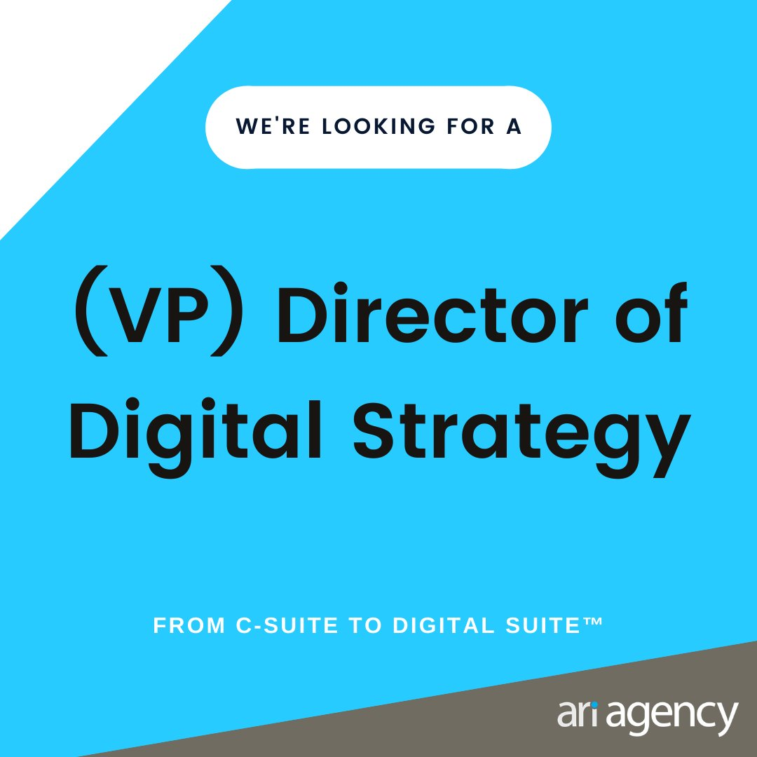 We're looking for a (VP) Director of Digital Strategy to join one of the largest and most awarded marketing agencies in North America.  Learn more and apply here:   #digitalstrategy #digitaljobs #digitalagency #leadershipjobs #vp jobs