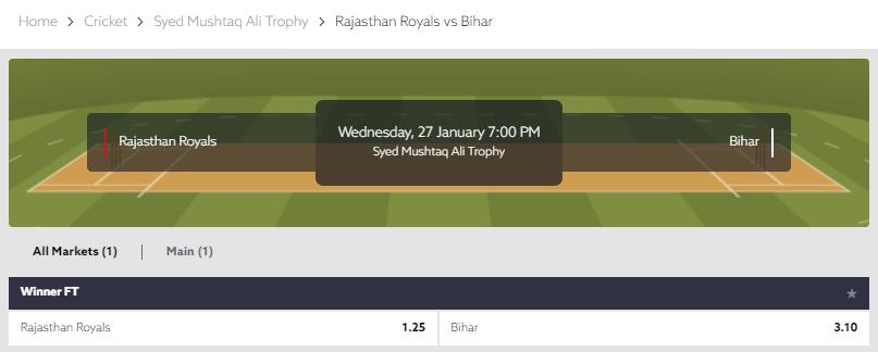 Syed Mushtaq Ali Trophy 2021 - Bihar vs Rajasthan  Bet on Funbet:    #SportsBetting #Betting #Online #Gambling #Cricket #Register #Bihar #Rajasthan #SMAT #SMAT2021 #SMAT20 #BIHvRAJ #BIHvRJS #SyedMushtaqAliTrophy #SyedMushtaqAliT20 #CricketBetting #Follow