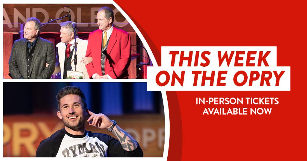 You can join us at the Opry this weekend as part of our limited, socially distanced audience!   Get your tickets here: