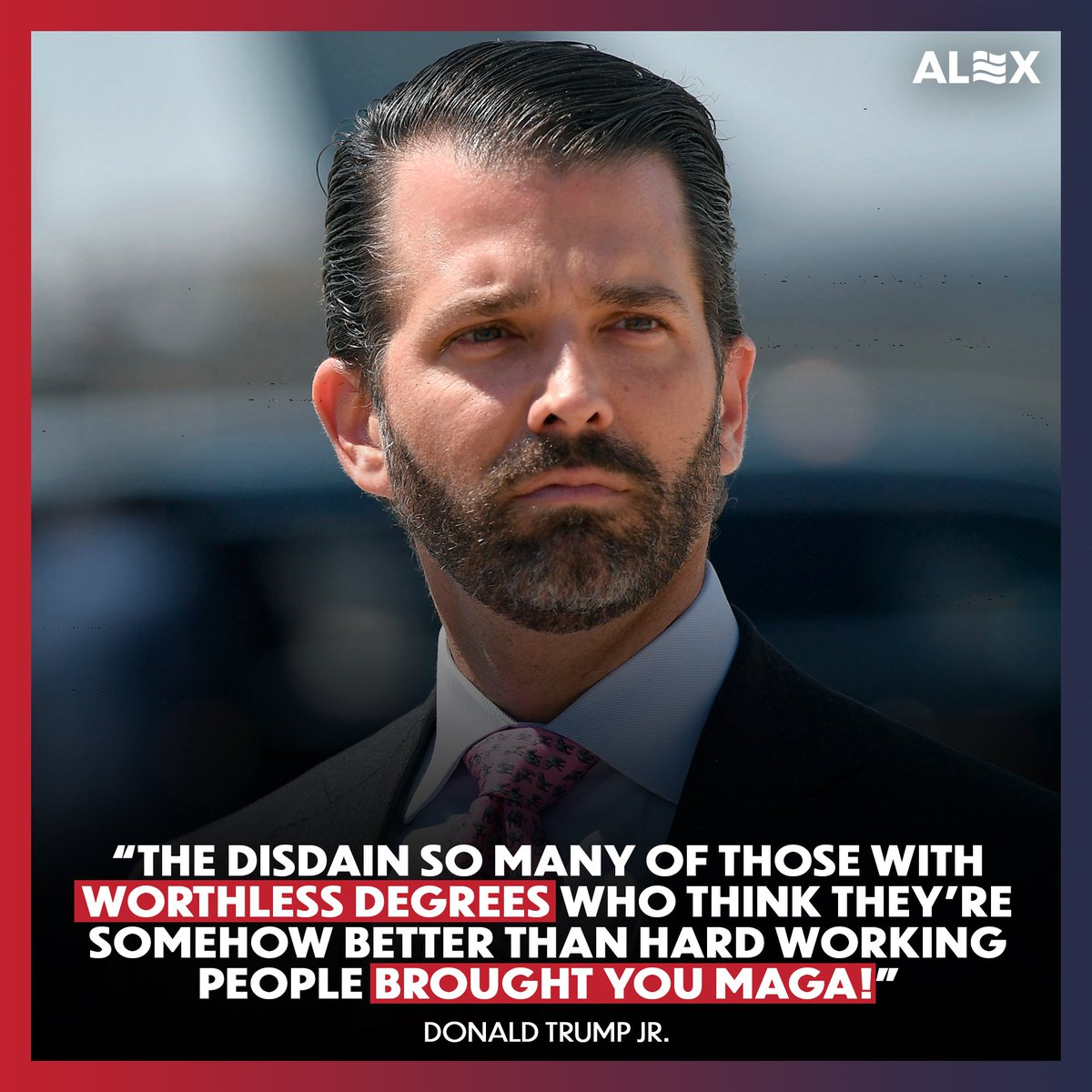 Replying to @alexbruesewitz: So true @DonaldJTrumpJr!