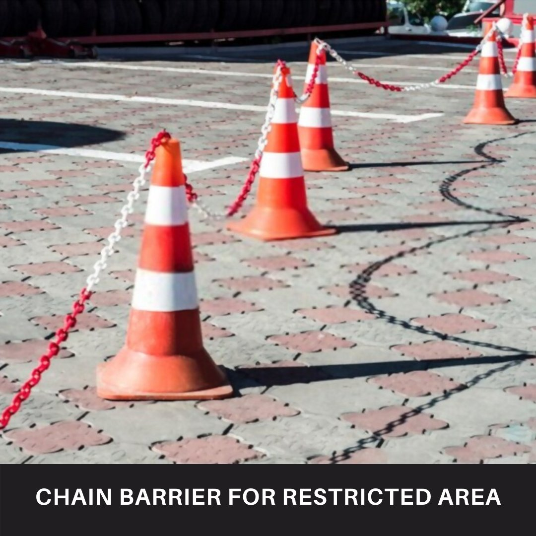 BuyEssentiels provides a durable plastic chain barrier for restricted access in industries.  Check Out Link In Bio #buyessentiels #plastic #chain #chainlink #mambaforever #tuesdayvibe