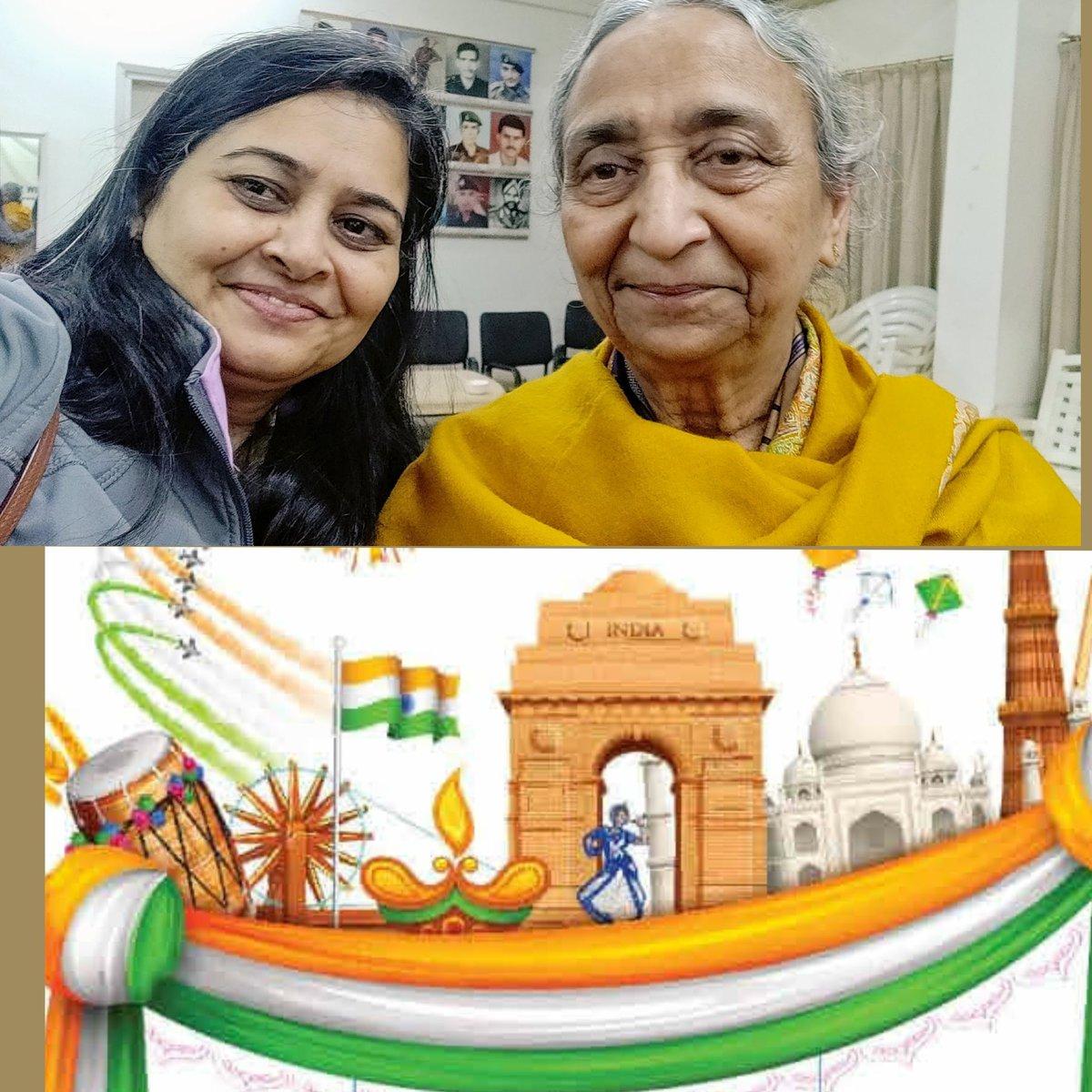 Arjuna Awardee & Six times National Badminton Champion Damayanti Mam  Celebrated 50th Republic Day since her husband  FLIGHT LIEUTENANT VIJAY TAMBAY 32 SQUADRON IAF went missing in action in Dec 1971  #Missing54 #KnowYourHeroes @manhasvikas41 #LestWeForget