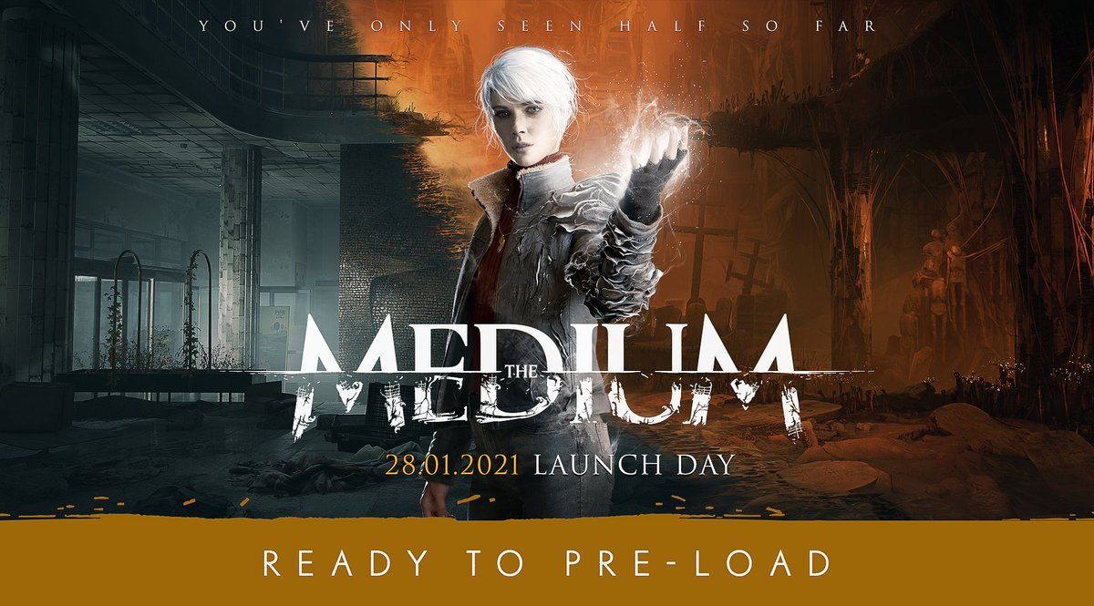 The Medium is ready to pre-load. Download the game now and be ready to play it as soon as it releases.   Available on Steam & MS Store  #TheMedium #BlooberTeam #LaunchDay #Preload #PCGame #STEAMgame #XboxSeriesX  #PsychologicalHorror
