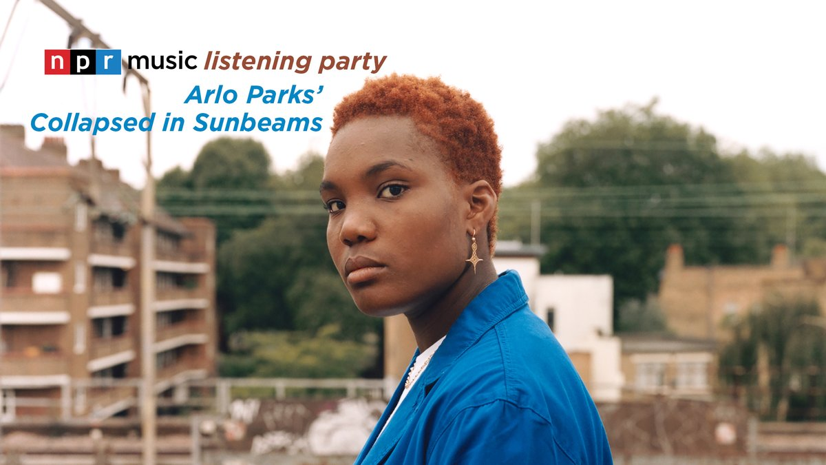 Join us on Friday, Jan. 29, at 1 p.m. ET for our first NPR Music Listening Party of 2️⃣0️⃣2️⃣1️⃣ as we spin Arlo Parks' 'Collapsed in Sunbeams.' We'll also be joined by @arloparks herself for a conversation with @WorldCafe's @RahRahRaina!   Details: