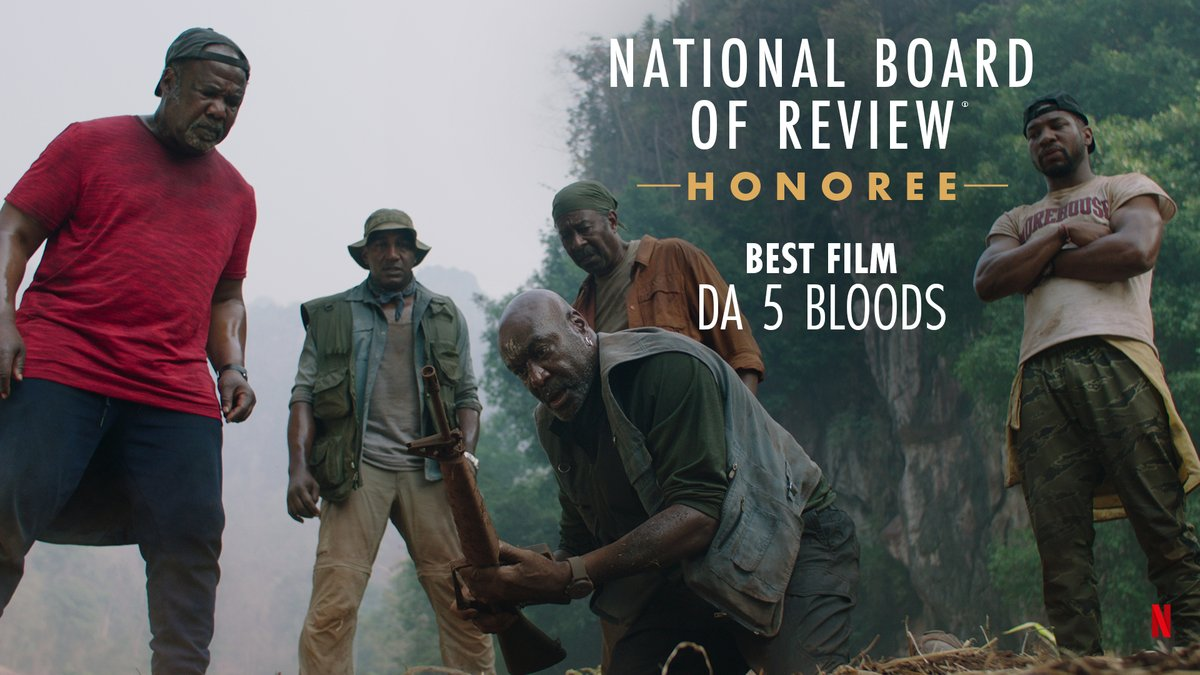 Spike Lee's visionary feature Da 5 Bloods is honored as Best Film of 2020 by @NBRfilm! 🏆