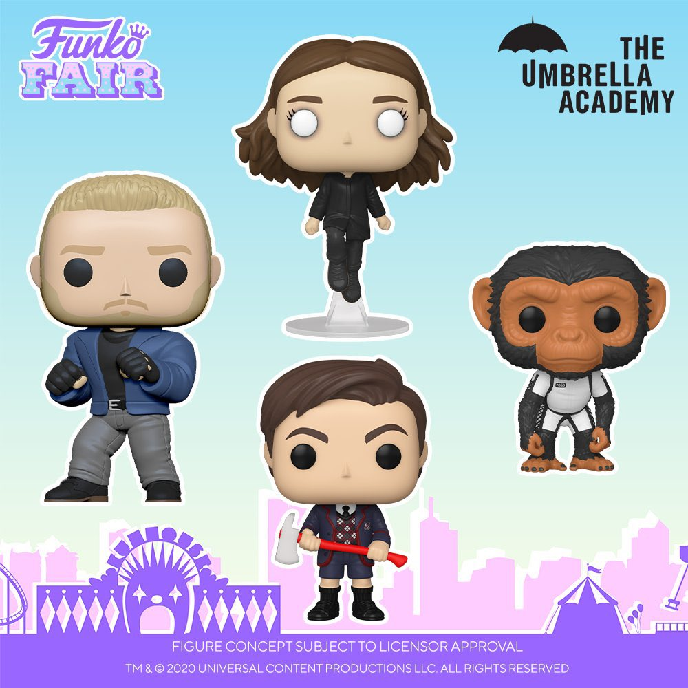 Funko Fair 2021: Umbrella Academy 🌂. These are sure to look epic with your Pop! Television collection so pre-order now!    #FunkoFair #Funko #FunkoPop #UmbrellaAcademy @UmbrellaAcad