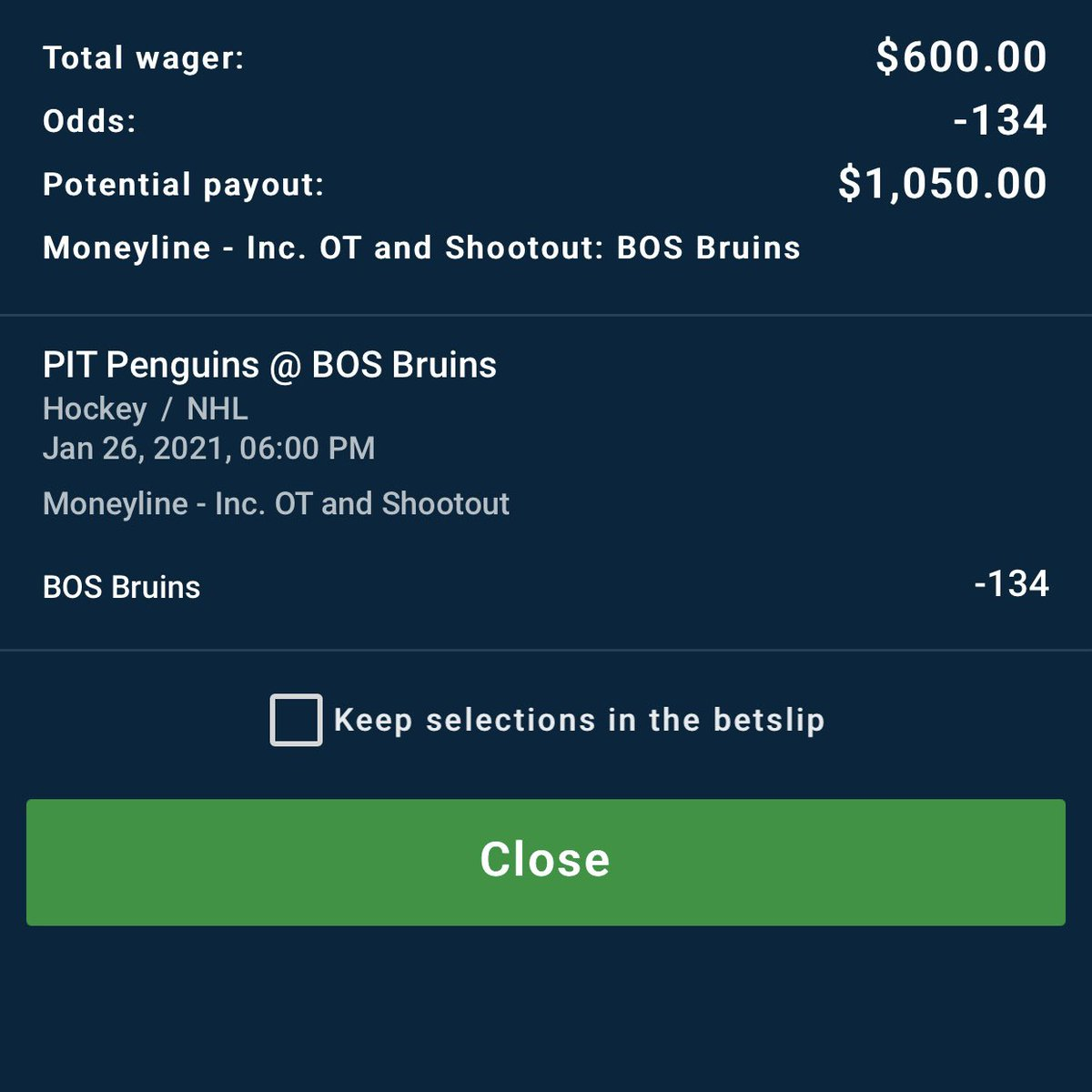 Bruins ML -134. Write up to follow immediately after this post. The World Is Ours. #NHLPicks #FreePicks