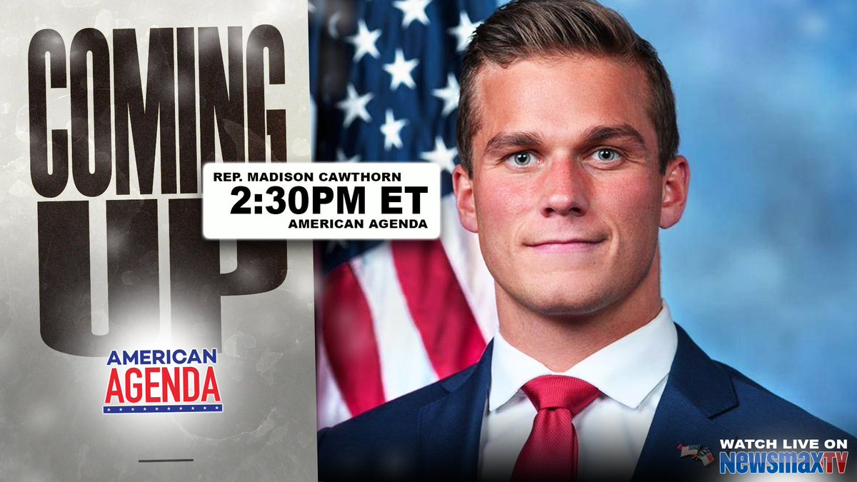 COMING UP: Madison Cawthorn's staunch support of President Trump may be creating adversaries in Congress - he joins Newsmax TV at 2:30PM ET to discuss.  WATCH LIVE: https://t.co/VlT7z8drtO @BobSellersTV @HeatherChilders https://t.co/XnI1tCzkUa
