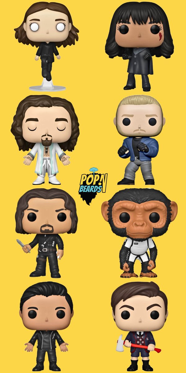 Funko Fair 2021: Umbrella Academy 🌂. These are sure to look epic with your Pop! Television collection so pre-order now! #popnbeards #FunkoFair #Funko #FunkoPop #UmbrellaAcademy @UmbrellaAcad