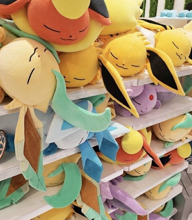Replying to @themouseyouknow: Physically I am here  But emotionally I am in the sleeping Eevee plush isle