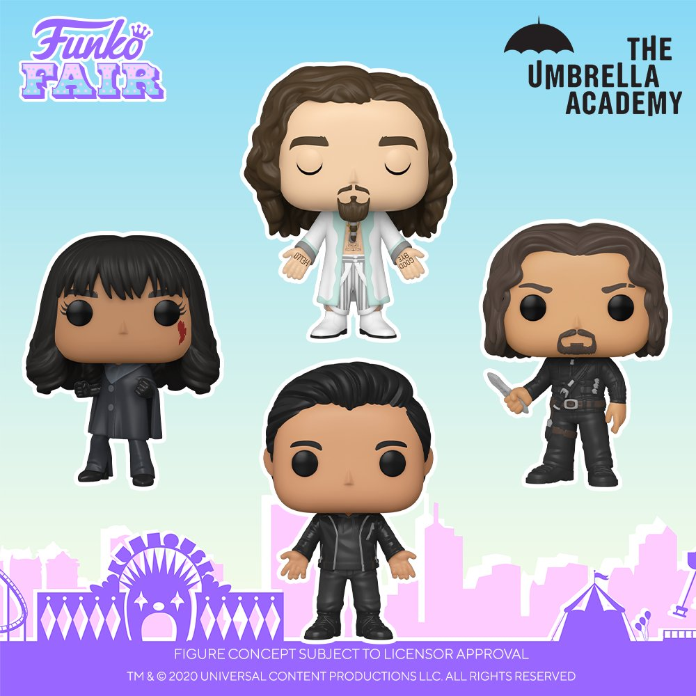 Funko Fair 2021: Umbrella Academy. These are sure to look epic with your Pop! Television collection so pre-order now!   Link -   #FunkoFair #Funko #FunkoPop #UmbrellaAcademy #hinesville #greenlotusdreams