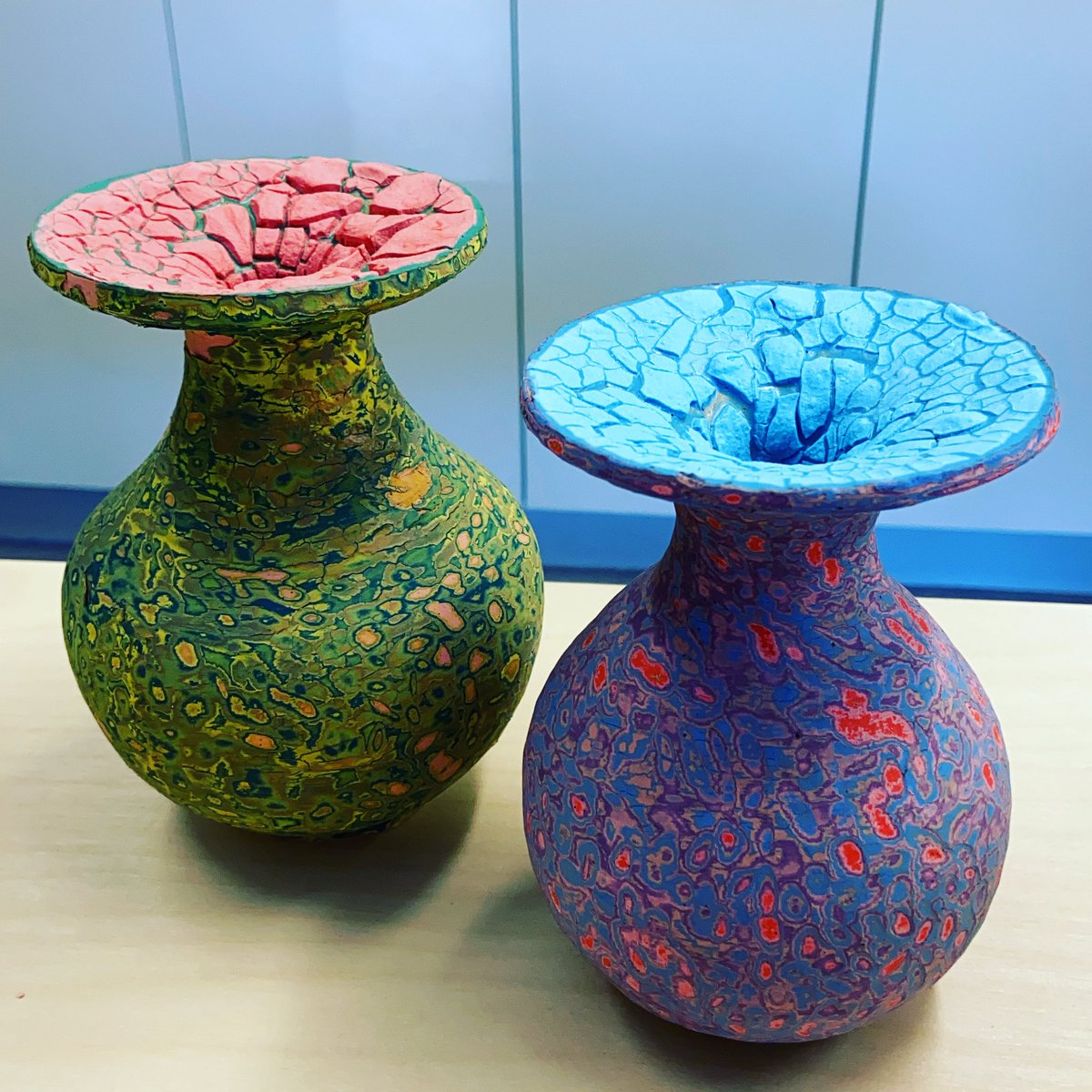 Replying to @Sethrogen: I made these vases:
